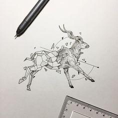 Geometric Beasts | Antelope (Greater Kudu)