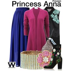 Inspired by Kristen Bell (voice) as Princess Anna in 2013's Frozen.
