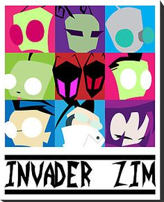 Zim and Friends Canvas