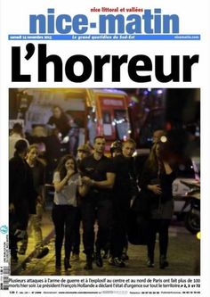 Attentats terroristes Paris 13 novembre 2015 Nice-matin