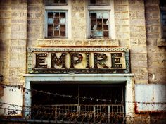 Abandoned theater in Bridgetown, Barbados.