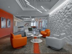 HOK was engaged by Chinese film company Alibaba Pictures, to design their first US offices located in Pasadena, California. Alibaba Pictures needed its Banks Office, Us Office, Downlights, Offices, Area Rugs, Flooring, Interior, Table, Pictures