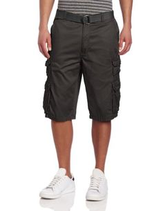 TOPSELLER! Southpole Men`s Belted Fine Twill Cargo Short With Washing $25.00