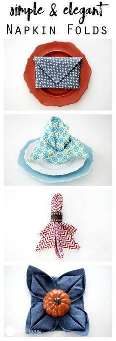 Add some last-minute style to your holiday table with these easy & elegant napkin-folding methods!