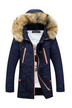 a6f96fb74e9d Long Parka - La veste de coton pour hommes - PriceMinister-Rakuten Doudoune,  Veste