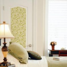 The Interlacing Leaves Allover Pattern Wall Stencilsis perfectly size for a nature inspired feature wall in the bedroom, living room, or for a dramatic stencil