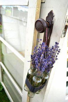 Lavender on the door knob