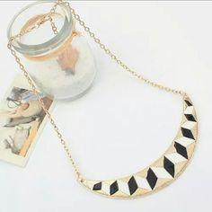 Gold-tone Moon Pendant Collar Necklace Gold-tone Moon Pendant Collar Necklace Jewelry Necklaces