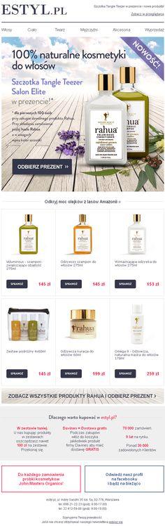 Projekt newslettera przygotowany dla Estyl.pl -promocja nowej marki w sklepie - https://panel.sendingo.pl/kampania/5hj / #newsletter #email #mailing #ecommerce #sale #promotion #template