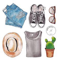 Good objects - Hello February! #goodobjects #illustration