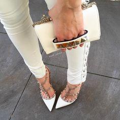 Valintino Rockstud heels and Valentino VaVaVoom Bag Photo credit: https://instagram.com/gvp_loves/