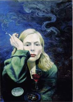 Self portrait of Joni Mitchell. I like how she paints, writes and sings songs. In other words, I'm a fan.