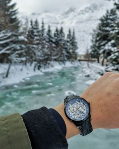 Paradise doesn't have to be tropical. We just love the snow-covered landscapes, the peacefulness of winter and the sound of shoes on fresh snow. Swiss Design, Wood Watch, Just Love, Instagram Feed, Winter Wonderland, Tropical, Snow, Watches, Luxury