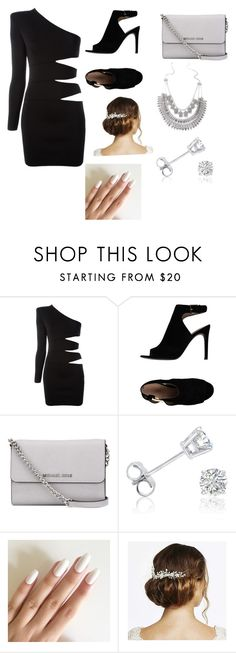 """Black and white"" by winchester-ashton ❤ liked on Polyvore featuring Balmain, Tory Burch, MICHAEL Michael Kors, Amanda Rose Collection and Jon Richard"