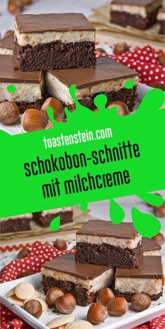 Extraschokoladige Schokobon-Schnitten [Sprouts & Nuts] - Nasch-Monster // sweets and treats - Schokolade Pumpkin Cheesecake Recipes, Vegan Cheesecake, Cupcake Recipes, Dessert Recipes, Desserts, Chocolate Cube, Chocolate Slice, Chocolate Wafers, Cooking