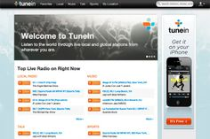 Tune In - The Web is bursting at the seams with places to listen to music and other forms of audio. TuneIn is remarkably comprehensive, and it couldn't be much simpler to use. The site — which is also available as an app for the iPhone, iPad, Android phones and other devices — puts streaming content from 50,000 sources in one place. You can look up local radio stations, browse musical genres or search for new and past episodes of your favorite podcast.