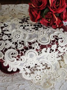 Oh the JOY of antique lace!  Vintageblessings