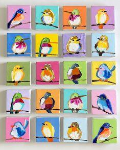 Take your pick tomorrow morning at on my site! Which is your fave?🤔🤔 Take your pick tomorrow morning at on my site! Which is your fave? Birds Painting, Watercolor Art, Animal Art, Small Paintings, Elementary Art, Mini Canvas Art, Art, Canvas Art, Bird Art