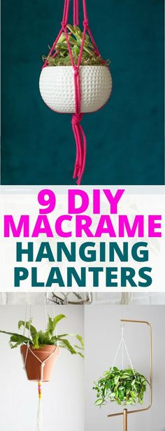 & Easy DIY Macrame Plant Hangers I can't wait to try this DIY macrame hanging planter.I can't wait to try this DIY macrame hanging planter. Diy Hanging Planter Macrame, Macrame Plant Holder, Hanging Planters, Macreme Plant Hanger, Rope Plant Hanger, Plant Hangers, Decoration, Easy Diy, Diys