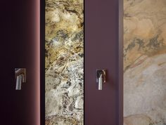 Transluzente Steinpaneele by Ecowalldesign Lightning Stone panels