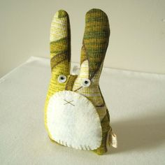Pouch: Charity listing - Lavender rabbit in spring green
