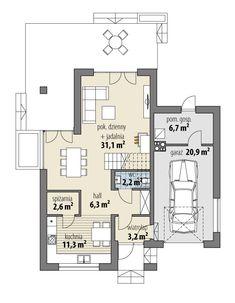 Elsa Garage House, House 2, German Houses, Architectural House Plans, Bungalow Exterior, Small House Design, Home Decor Kitchen, Home Fashion, Future House