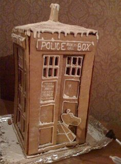 Gingerbread TARDIS (and K9) from buzzfeed