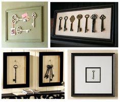 Framed Vintage Keys