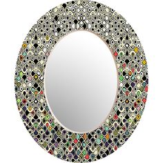 Beautiful mirror. Could cover in shells, beads, or any other medium.