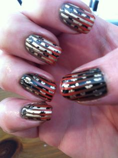China Glaze Life Preserver and Ingrid. Essie Good as Gold and MDU black. Cheeky plates 10 and 16.