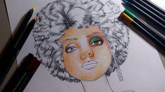 Colorindo com Lápis de cor  - Morena Linda -  Por Marcio Graff