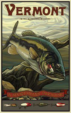 Vermont Bass, A Sportsman's Paradise poster