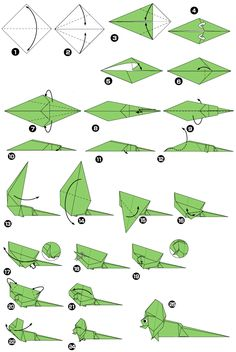 Kids Origami, Origami Folding, Origami Easy, Origami Lizard, Origami Insects, Diagrammes Origami, How To Make Pinwheels, Origami Instructions For Kids, Origami Guide