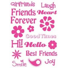 """Friends Paper Company Clear Stamps 4""""X8"""" Sheet PCSTCS-93415 - Stamps"""