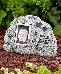 Cat memorial garden statue outdoor stone grave marker headstone inscribed paw print pet dog cat memorial stone garden grave marker headstone http publicscrutiny Image collections