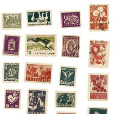 Vintage Bulgarian Postage Stamp Collection by SunStateVintage #Bulgaria #postage
