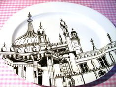 Large Porcelain Serving Plate Brighton Pavilion by BrightonCrock, £60.00