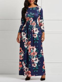 This print dress , you can wear a single coat or a long coat , all very charms Day Dresses, Cute Dresses, Casual Dresses, Vintage Dresses, African Fashion Dresses, African Dress, Mode Abaya, Dress Silhouette, Chic Outfits