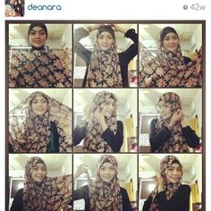 Chest covered hijab tutorial by @Merle Jacobs