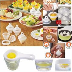 Hard Boiled Egg Cooker — Inspireuptrend Hard Boiled Egg Cooker, Cooking Hard Boiled Eggs, Egg Coddler, Poached Eggs, Scrambled Eggs, Cooking Tools, Cooking Supplies, Food Grade, The Help