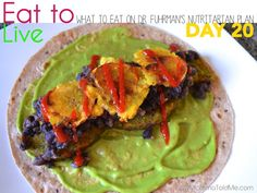 What to eat on Day 20 of Dr. Furhman's #eattolive #nutritarian plan