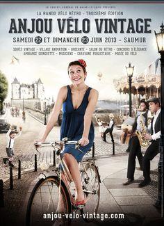 Chez ilovia on aime le vintage : Anjou Vélo Vintage - 22 & 23 juin 2013 à Saumur - http://www.ilovia.com/blog/anjou-velo-vintage-22-23-juin-2013-a-saumur/