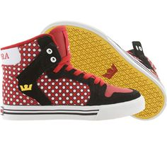 Supra Big Kids Vaider (black / red / white) S11027K - $55.00