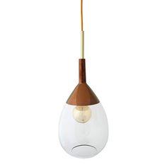 Ebb & Flow - Lampe Suspendue Luth - Transparent sur Cuivre                                                                                                                                                     Plus