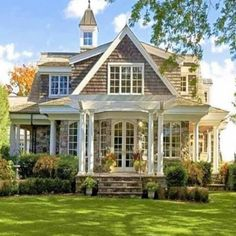Dream Home Design, My Dream Home, Cute House, My House, Style At Home, Villa, Second Empire, Stone Houses, House Goals