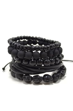 5 Pack Black Out Bracelet – Tag Twenty Two
