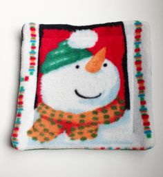 Potty Pad for Small Pets  Snowman Fleece  by WheeklySpecial