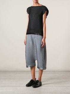 ISSEY MIYAKE CAULIFLOWER textured wide leg trousers