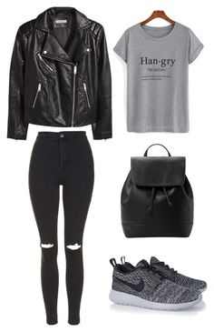 """""""Untitled #33"""" by victoria-tbo on Polyvore featuring Topshop, H&M, NIKE and MANGO"""