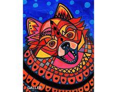 Pomeranian Angel Art Print Poster by Heather by HeatherGallerArt